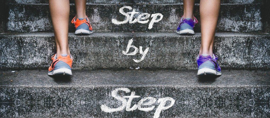stairs, gradually, feet